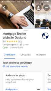 Mortgage Broker Leads Google My Business